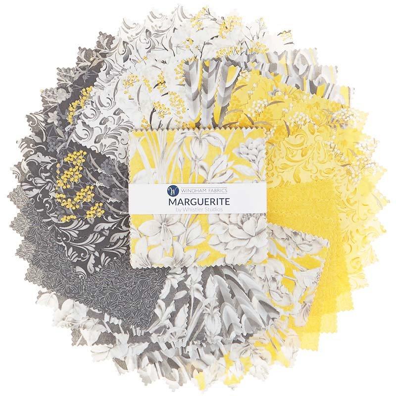 5 squares Marguerite designed by Whistler Studios for Windham Fabrics