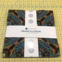 10 squares Grand Illusion by Katia Hoffman for Windham Fabrics