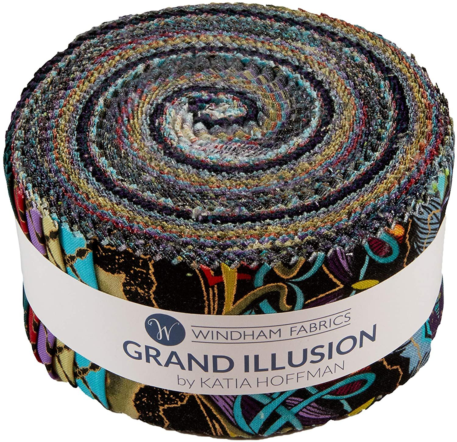 2 1/2 Strips Grand Illusion by Katia Hoffman for Windham Fabrics
