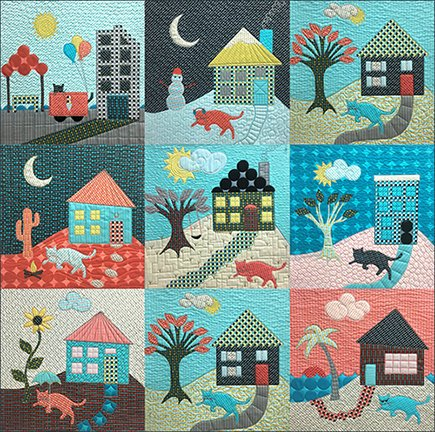 43107QK Happy House Cat Quilt Kit