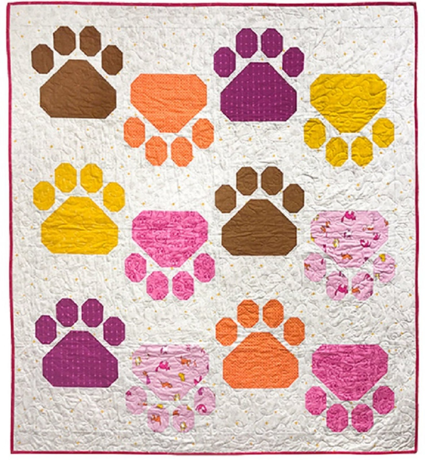 Caturday Pretty Paws Quilt Kit