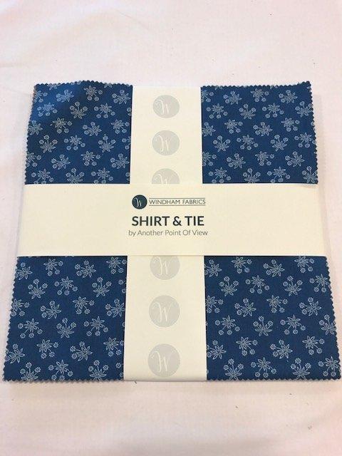 10 squares Shirt & Tie by Windham Fabrics