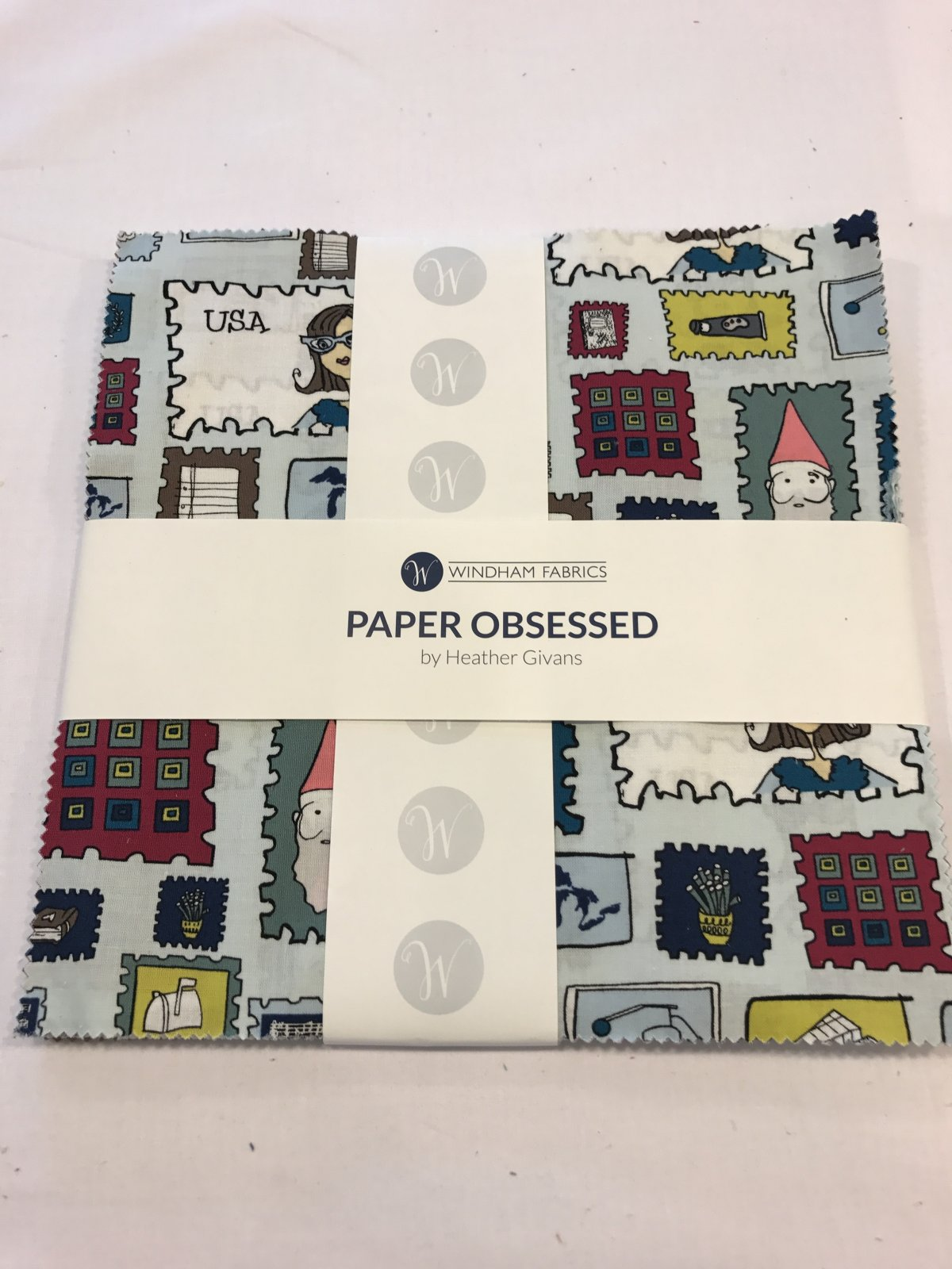 10 squares Paper Obsessed for Windham Fabrics
