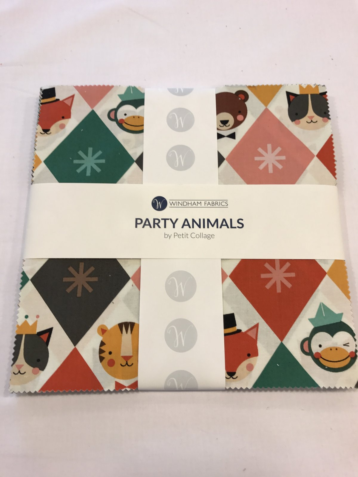 10 squares Party Animals by Windham Fabrics