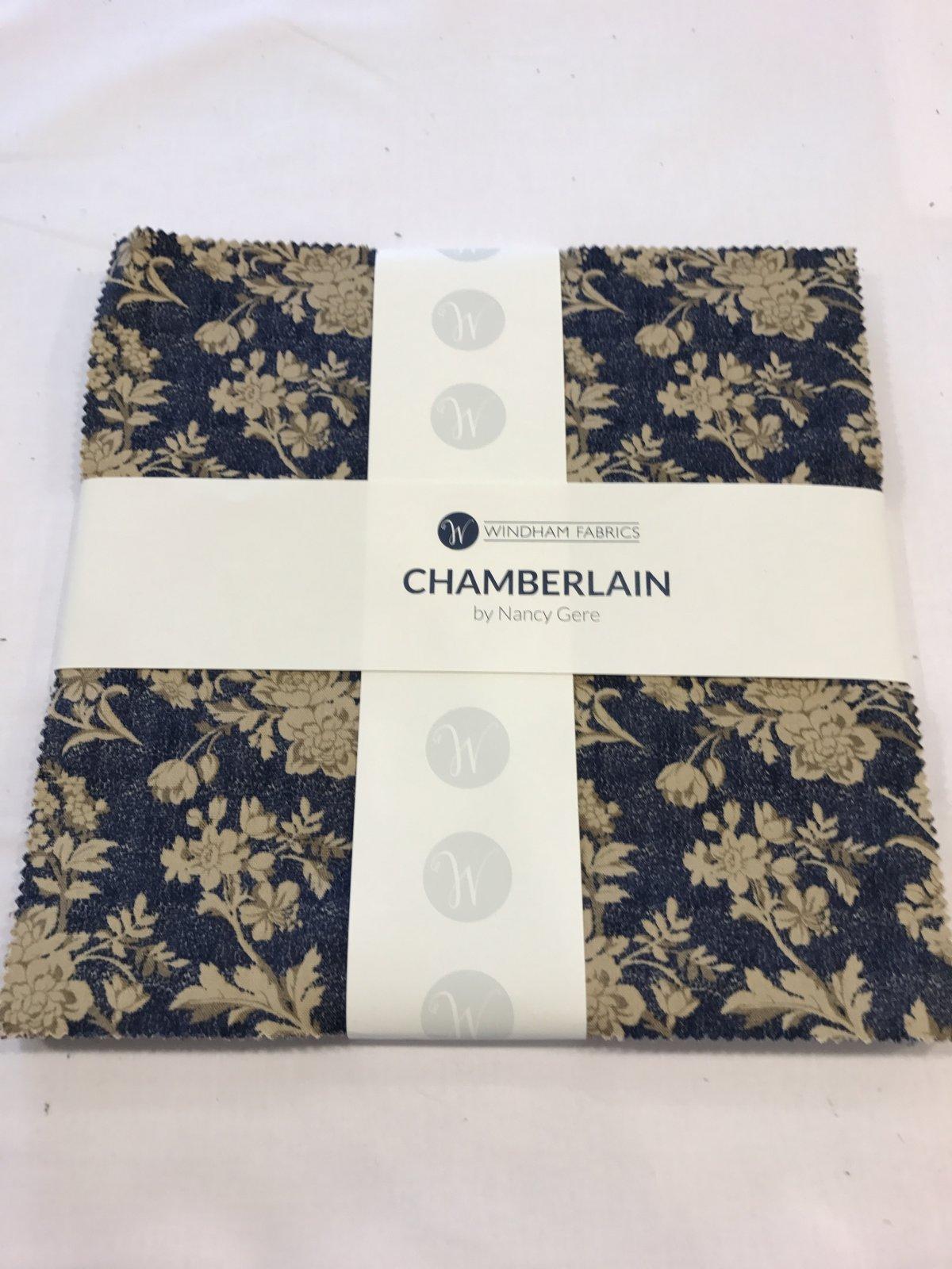 10 squares Chamberlain by Windham Fabrics