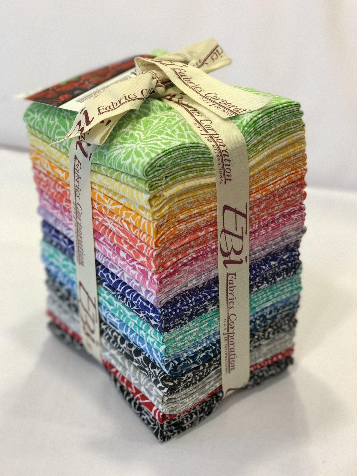 Fat Quarter Bundle 25 EBI Fabrics Cracked Ice