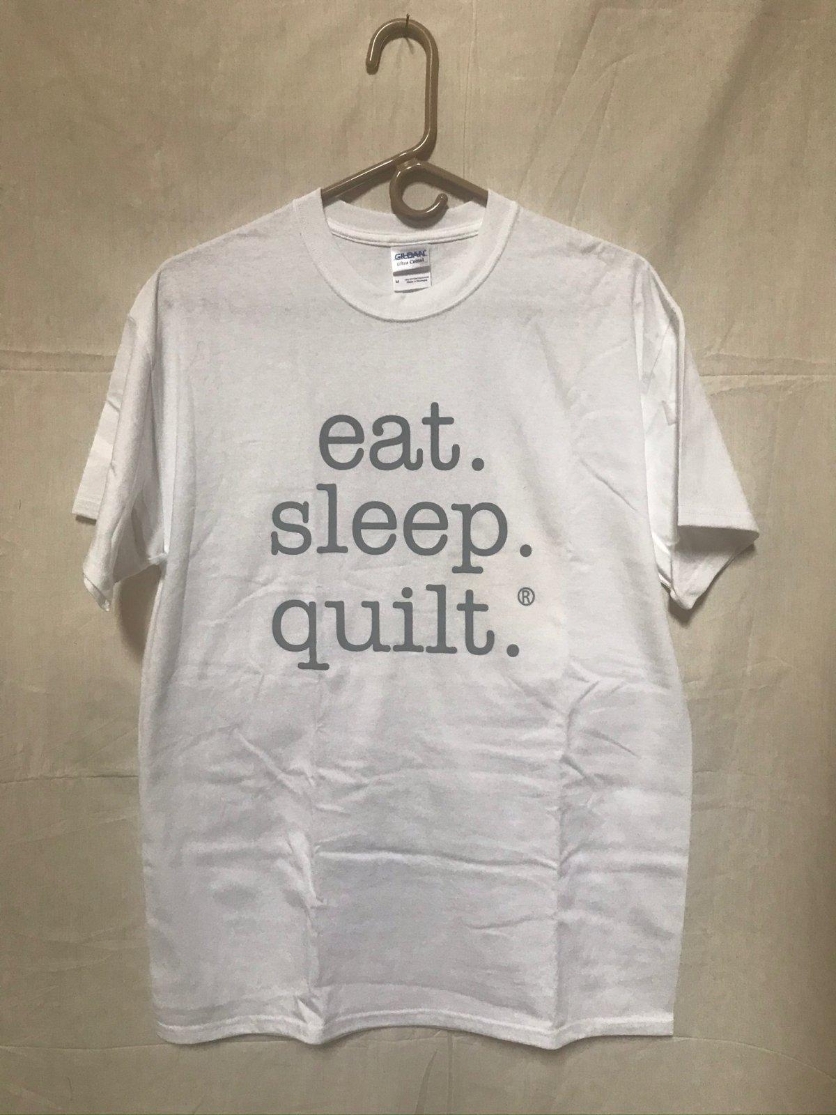 Eat Sleep Quilt T-Shirt Women's Size Medium