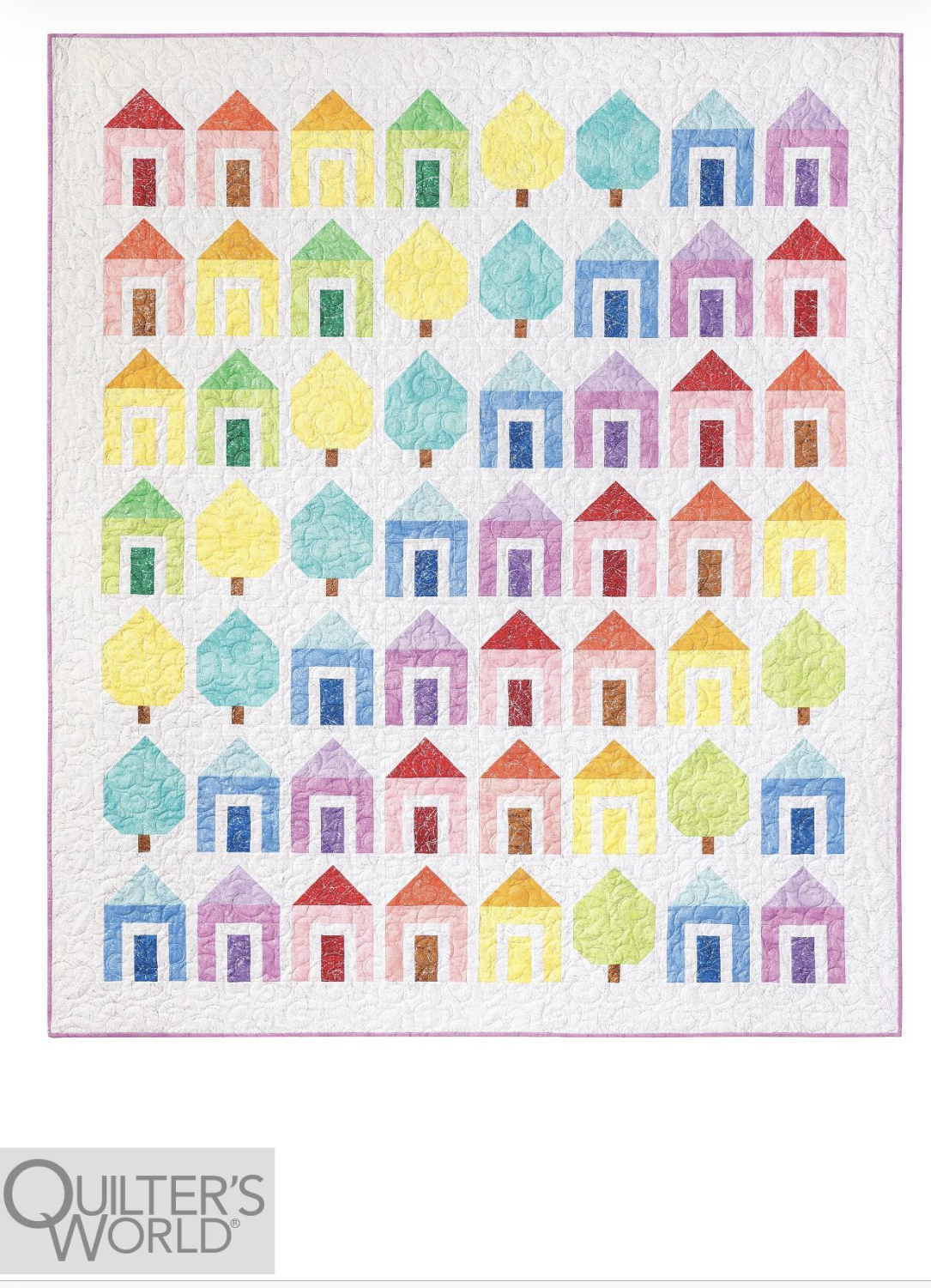 Candy Neighborhood Quilt Kit Designed by Wendy Sheppard featured in Quilter's World Magazine