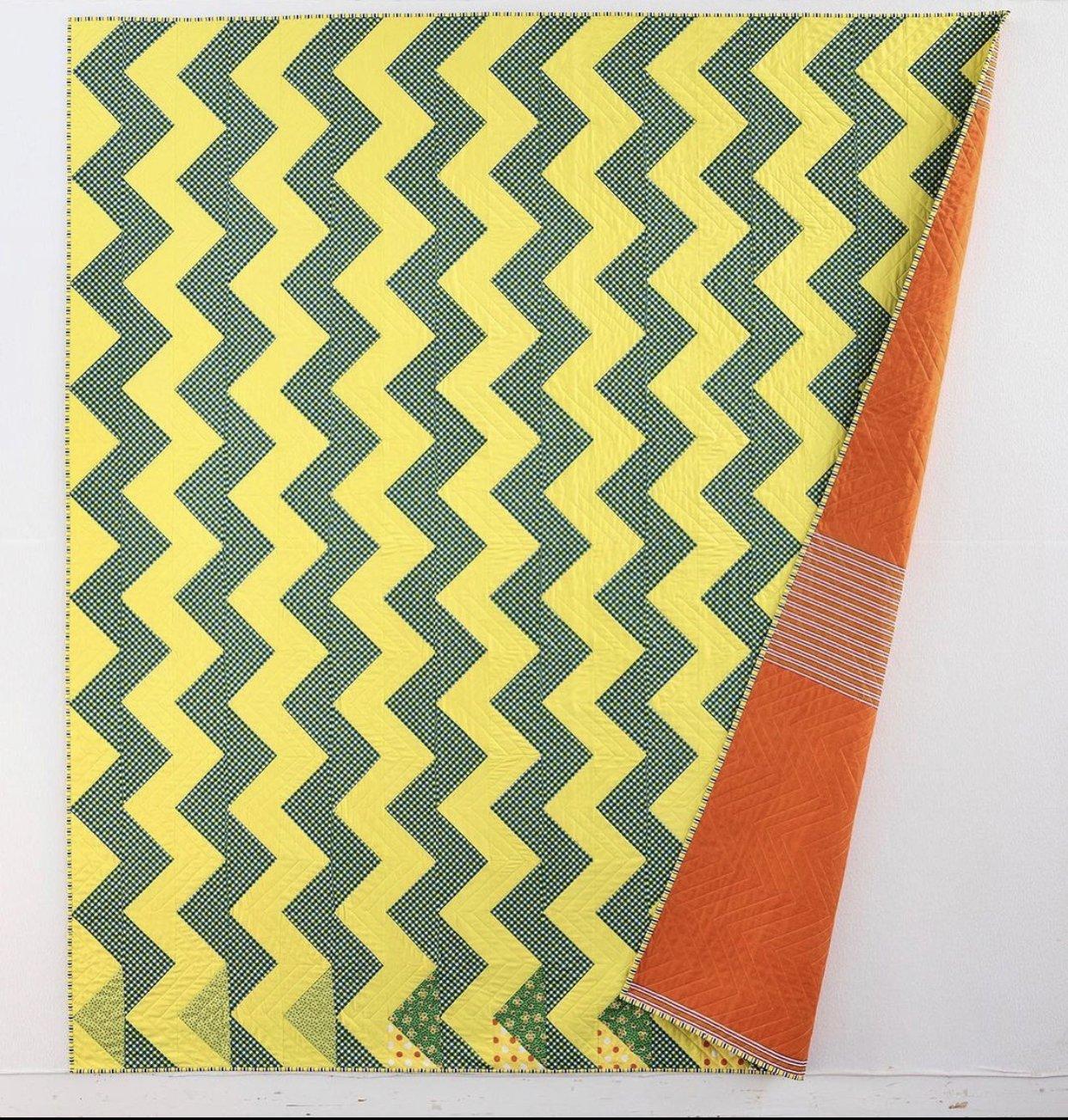 SOLQKFT Streak of Lightening Quilt Kit by Denyse Schmidt for Windham Fabrics
