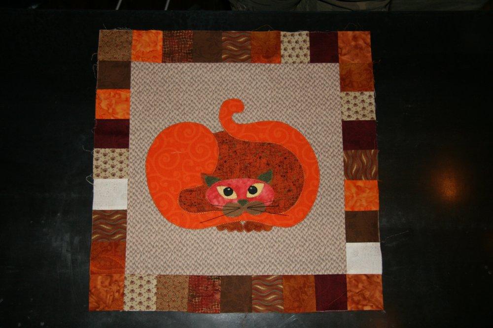SQ05 - Garden Patch Cats -Pumpcat Block 5