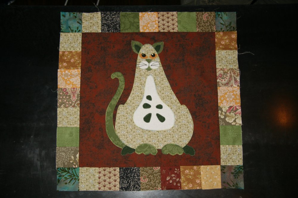 SQ02 - Garden Patch Cats -Boscat Block 2