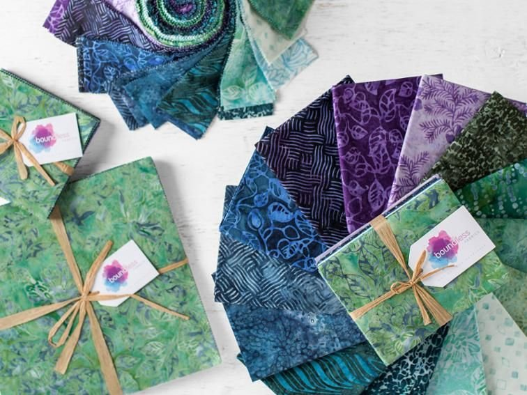 2 1/2 Strips Lavender Fields by Boundless Batiks