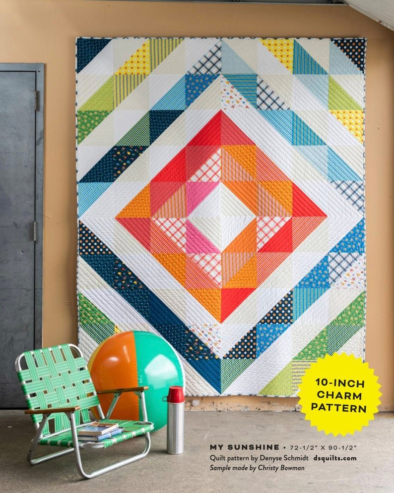 MSQKFT My Sunshine Quilt Kit by Denyse Schmidt for Windham Fabrics