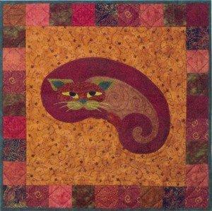 SQ03 - Kit Garden Patch Cats -Kitt'ney Bean Kitty Block 3
