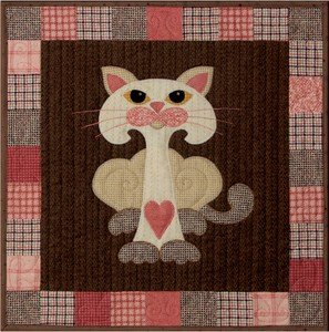 SQ12 - Garden Patch Cats - Mushkit Cat Block 12