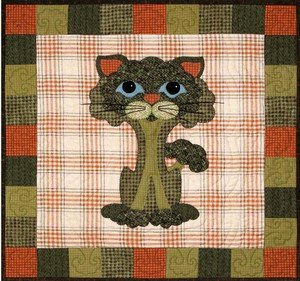 SQ13 - Garden Patch Cats -Broc-Kitty Block 13