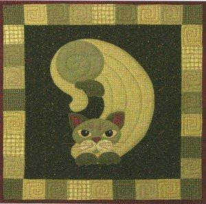 SQ15 - Kit Garden Patch Cats - Pickle Puss Block 15