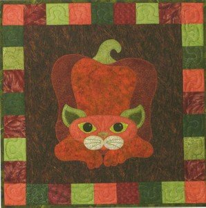 SQ16 - Garden Patch Cats -Pepper Puss Block 16
