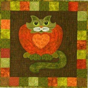 SQ17 - Kit Garden Patch Cats -Purrsimmon Block 17