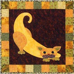 SQ19 - Kit Garden Patch Cats -Banana Cat Block 19