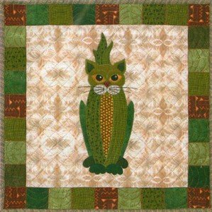 SQ20 - Garden Patch Cats - Colby Cat Block 20