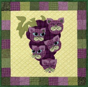 SQ21 - Garden Patch Cats - Concord Kittys Block 21