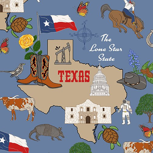 46531-X Texas State Fabric by Windham Fabrics