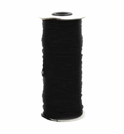 Flat Black Elastic 1/4  5 yard cut -TGQ049