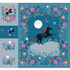 Crescent 108 Wide Digital Magic Unicorn Quilt Panel Sarah Watts for Ruby Star Society Fabrics