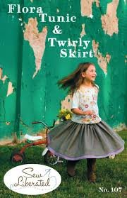 Flora Tunic & Twirly Skirt Pattern  by Sew Liberated