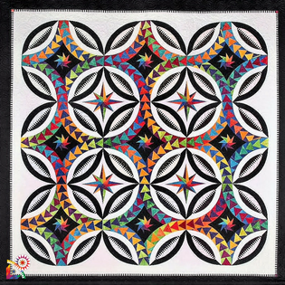 Fanciful Flight  Quilt Kit designed by Jacqueline de Jonge