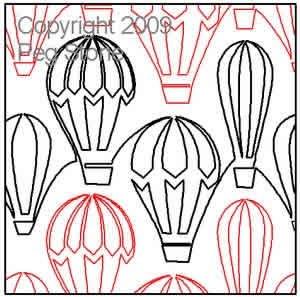 Hot Air Balloons -Peg Stone- Pantograph