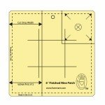 6 Nine Patch Ruler, Amber Acrylic Etched
