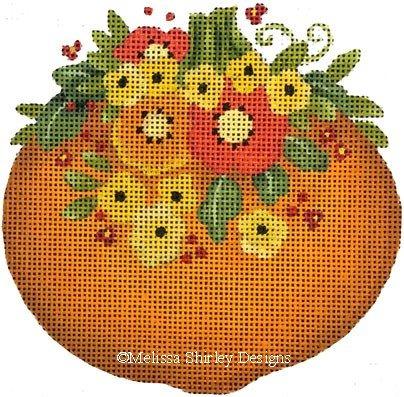 2171C - PUMPKIN WITH FLOWERS