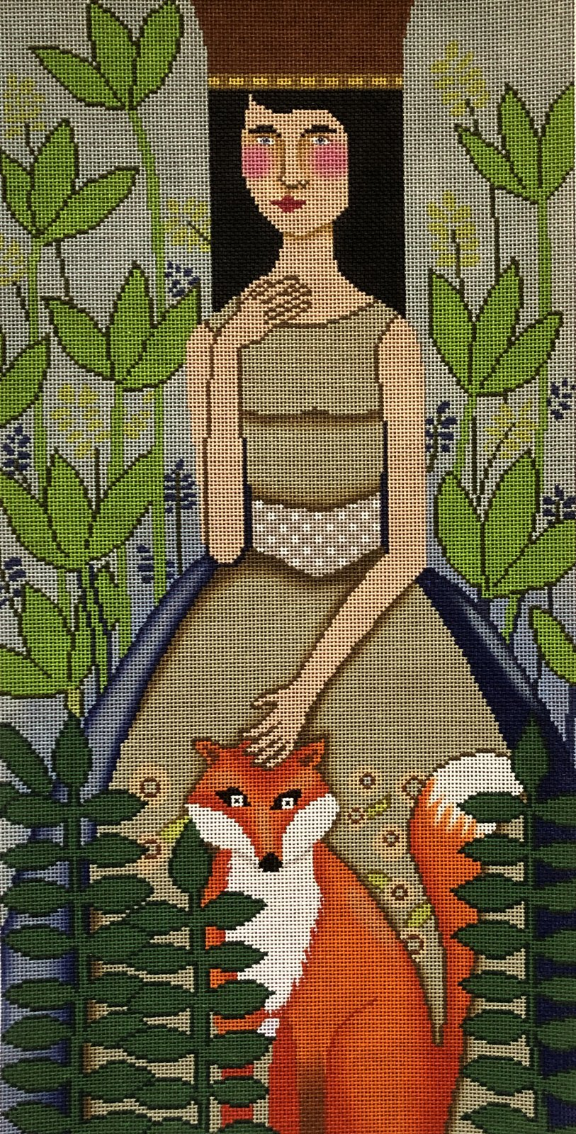 50009 - WOMAN WITH FOX