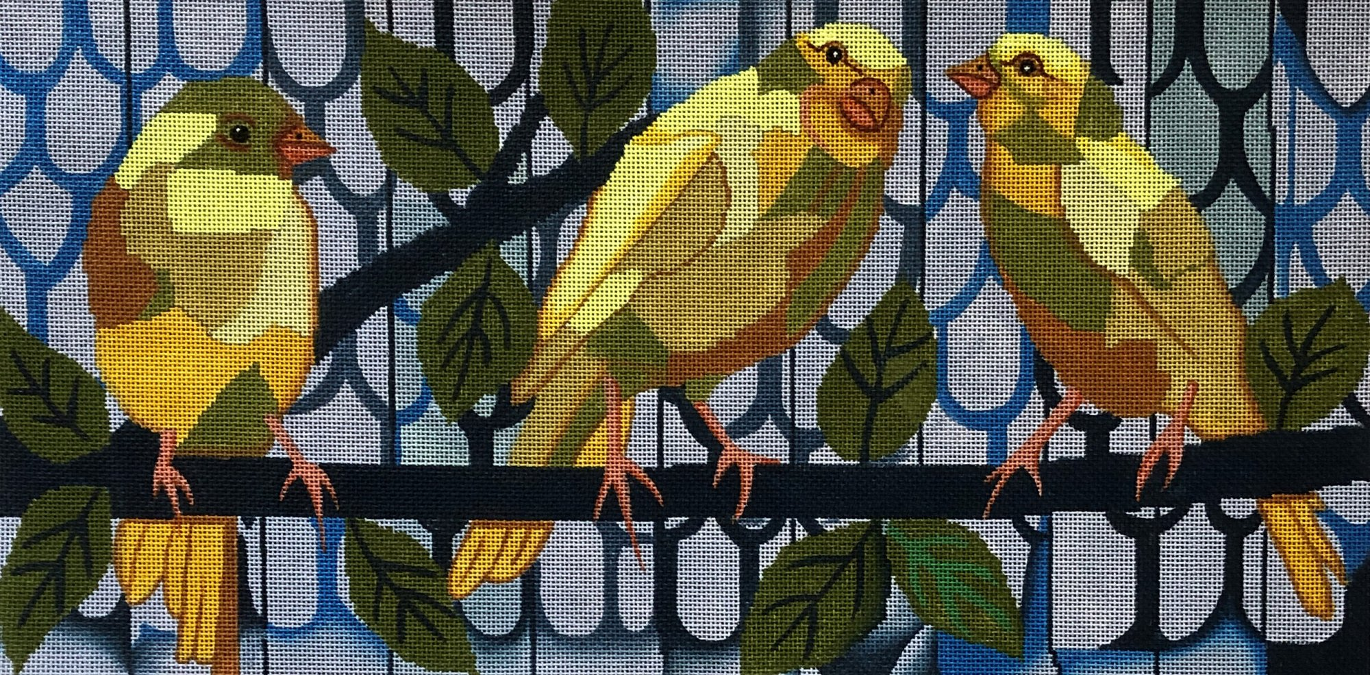 50024 - PARAKEETS ON BRANCH