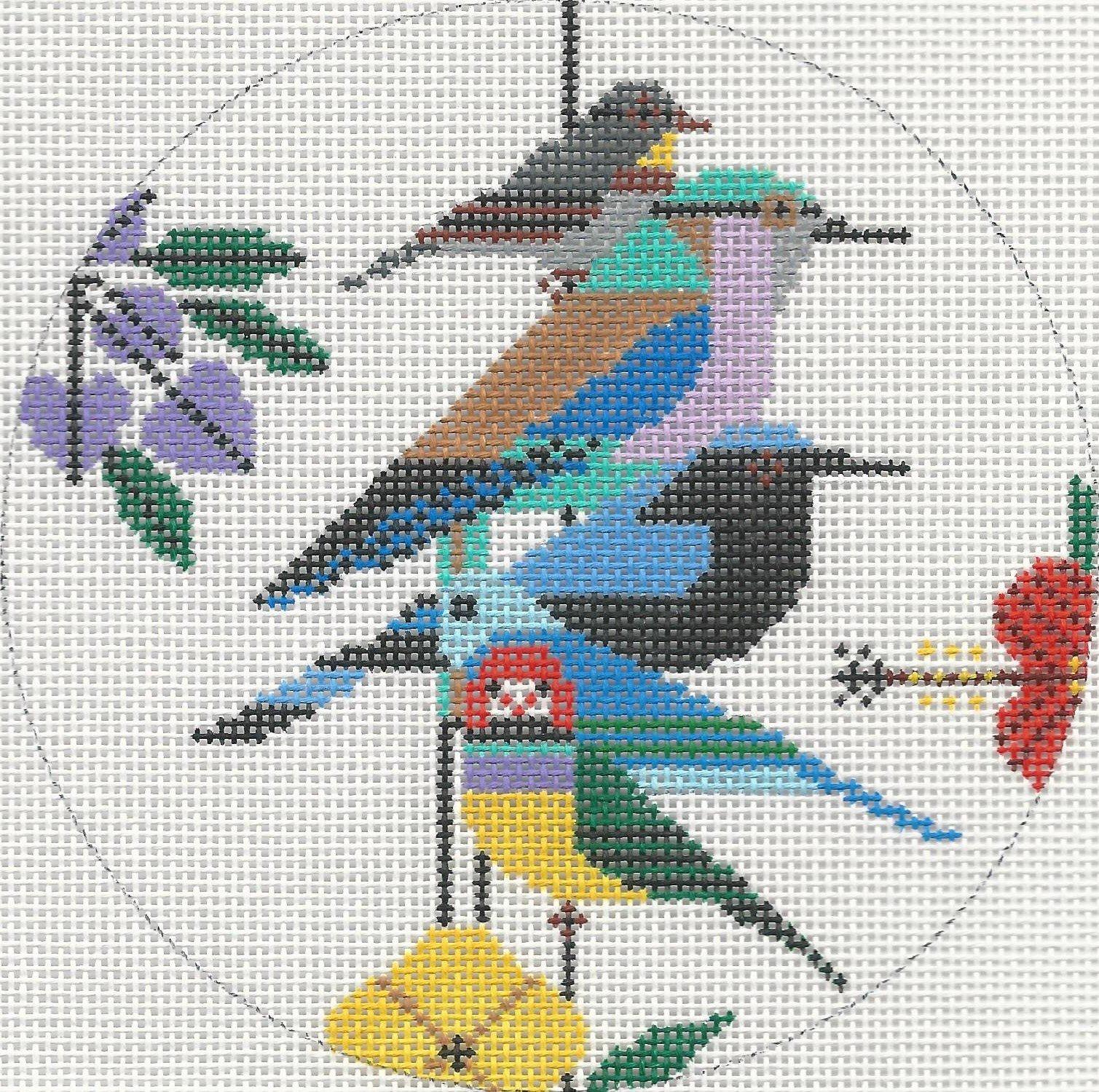 HC0411 - RAIN FOREST BIRDS ORN.