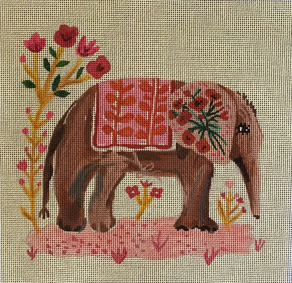 CGPL02 - RIGHT FACING ELEPHANT WITH ROSES