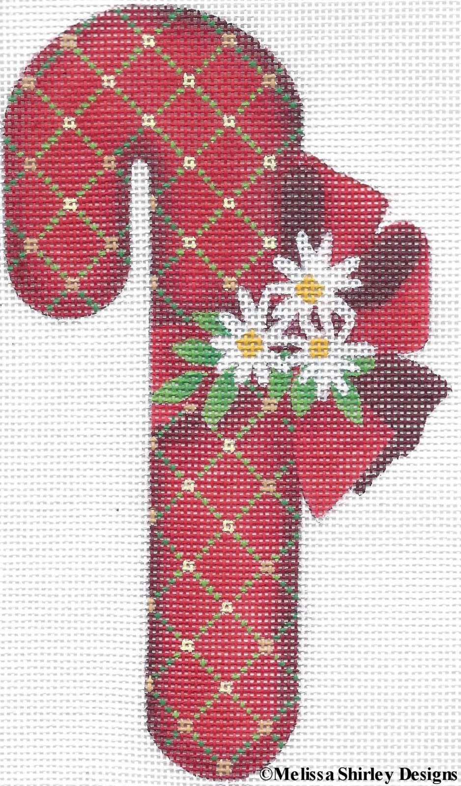 2109H - RED TRELLIS CANDY CANE