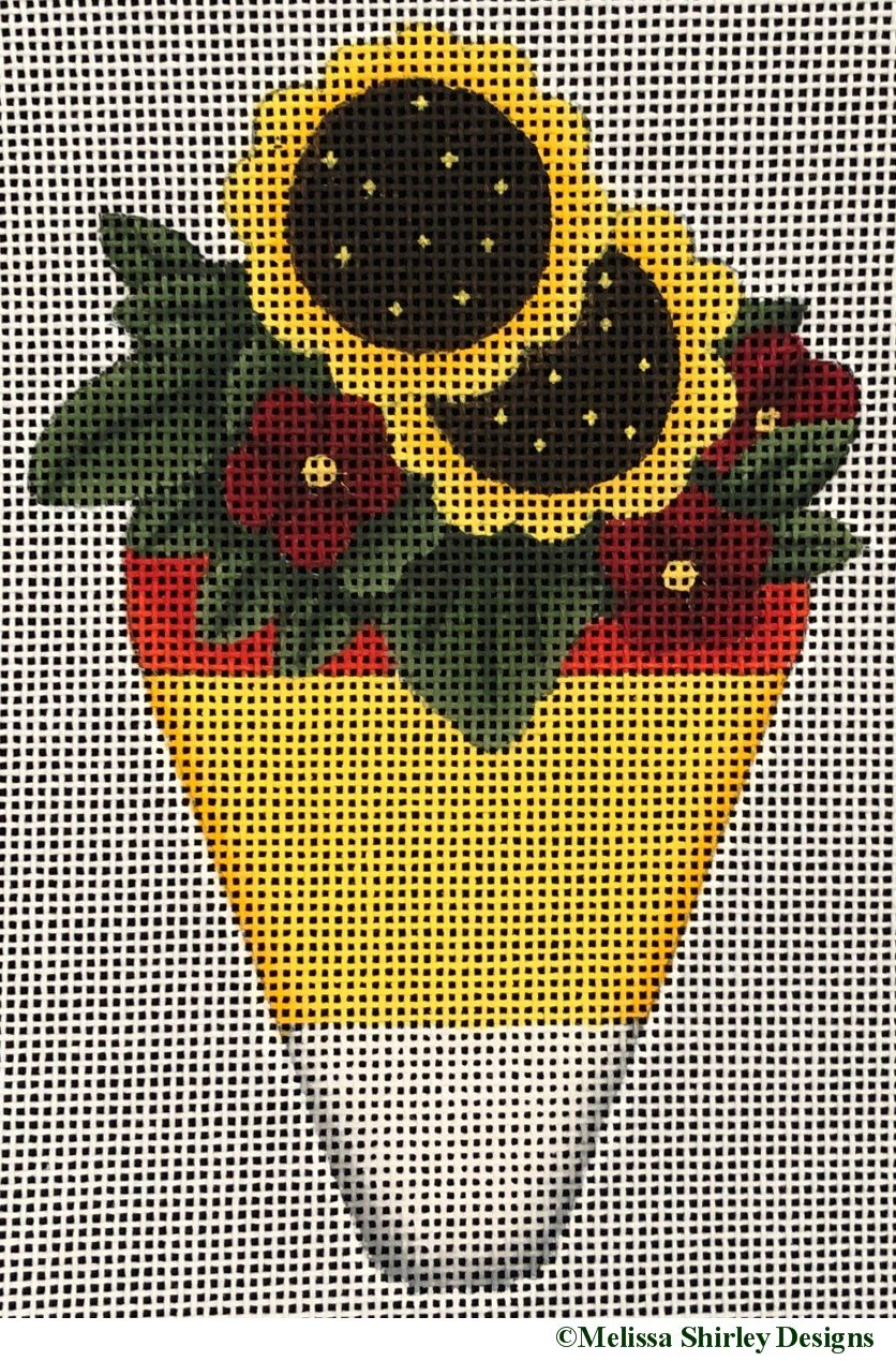 2236C - SUNFLOWERS ON CANDY CORN
