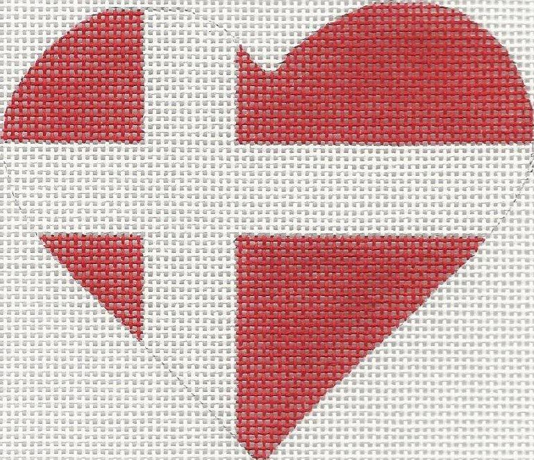 HT25 - DENMARK FLAG HEART