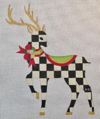 HO1599 - STANDING CHECKED REINDEER