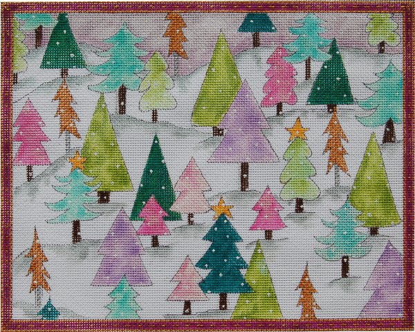 N214 - CHRISTMAS TREE FOREST WITH STITCH GUIDE