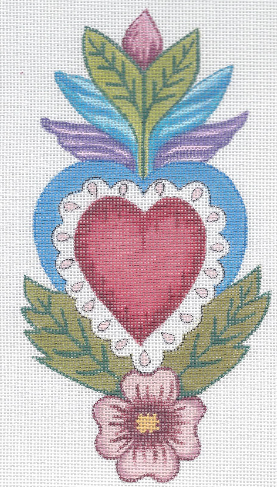 BEJF42 - CORAZON HEART WITH STITCH GUIDE
