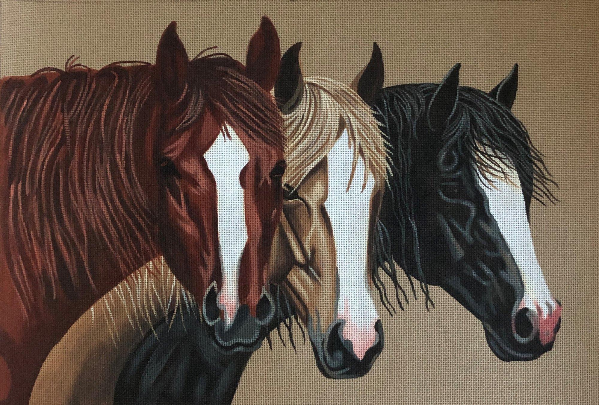 TTAP436 - 3 BLAZE HORSES
