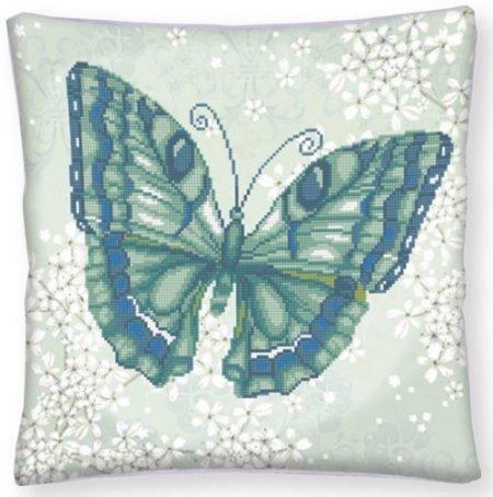 Diamond Dotz Advanced Papillon Vert 17.3x 17.3 Decorative Pillow