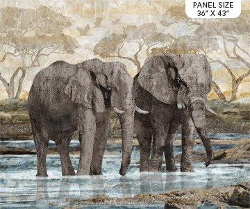 New Dawn - Elephant Panel