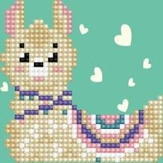 Diamond Dotz Beginner 6x6 Llama Heart