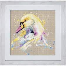 The Swans Counted Cross Stitch Kit