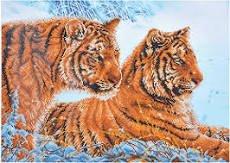 Diamond Dotz Advanced 28.4X20.5 Tigers in Snow